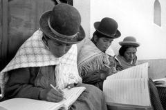 Literacy women females at an adult class la paz Stock Photos