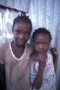 Color children kids slum dwellers of mukuru Stock Photos