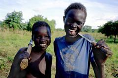 Children kids boys of chukudum south sudan 3021 Stock Photos