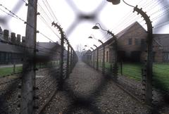 Poland auschwitz camp country developing nation Stock Photos