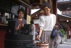 Japan incense burner at senso-ji temple asakusa Stock Photos