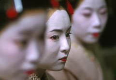 japan geisha ceremony gion kyoto woman female - stock photo
