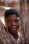 Mozambique girl of metangula people person teen Stock Photos
