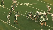 Football Complete on 3 yd Line Stock Footage