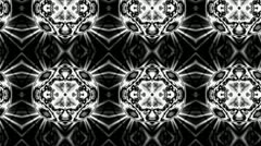 Psychedelic background-Black and white Stock Footage