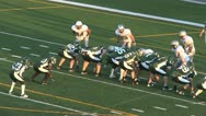 Football TD Pass at Goal Line Stock Footage