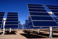 Technology solar electic power station southern Stock Photos