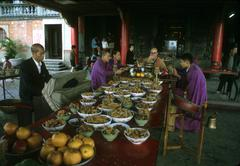 Taiwan taoist ceremony at chihnan temple people Stock Photos