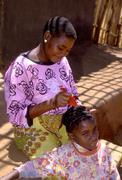 Health awareness woman female grooming girls Stock Photos
