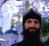 Faces monk at pechersk monastery kiev ukraine Stock Photos