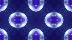 Kaleidoscope disco ball-blue Stock Footage
