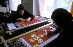 Labor nuns church ornament ternopil ukraine art Stock Photos