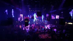 Dance Club-long shot Stock Footage