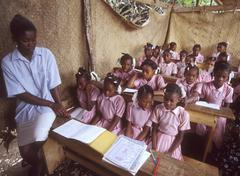 haiti primary school maniche photo background - stock photo
