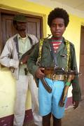 Ethiopia soldiers of the oromo liberation front Stock Photos