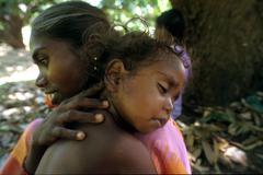 india mother child kid bonded laboers of palani - stock photo