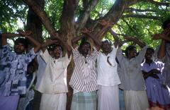 india slavery liberation dance by bonded palani - stock photo