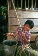 Guatemala children kids -child labor boy drawing Stock Photos