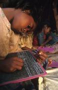 india schools village primary school andhra girl - stock photo