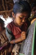 india scools primary school andhra pradesh girl - stock photo