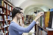 Female in library Stock Photos