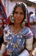 india tribes lambada tribal woman female andhra - stock photo