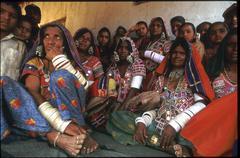 india tribes lambada tribal women females andhra - stock photo