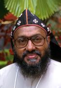 India religion christian bishop athanasius head Stock Photos