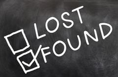 lost and found - stock photo