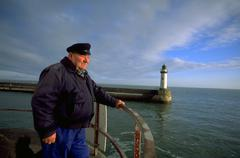 people man male seaman belle ile france atlantic - stock photo