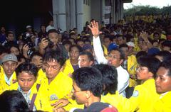 amien rais opposition candidate student protest - stock photo