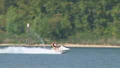 Jet Skiing on River Stock Footage