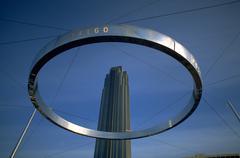 Abstrakti taide Houston Texas ring loop ympyrä Kuvituskuvat
