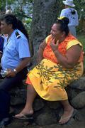 Woman female people man male native marquesas ua Stock Photos