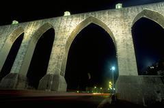 Fitness aqueduto aqueduct das aguas livres arch Stock Photos