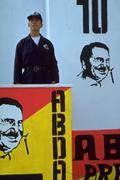 Election quito ecuador politics political poster Stock Photos