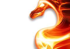 fire dragon - stock illustration