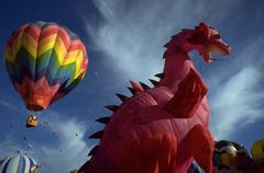 Art balloon festival new mexico hispanic hot air Stock Photos