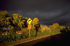 Myrsky pilvet katu Oaklandissa Kaliforniassa Kuvituskuvat