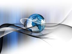 Dynamic world Stock Illustration