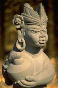 Art indonesian statue ancient antique bali asia Stock Photos
