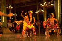 Party people dance indonesian male dancers solo Stock Photos