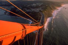 section golden gate bridge san francisco span - stock photo