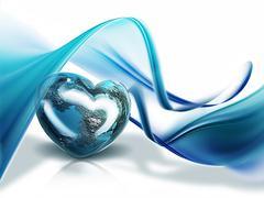 Stock Illustration of heart of the world