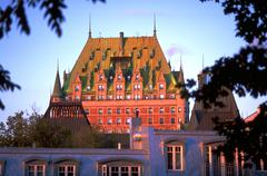 Chateau frontenac quebec city canada hotel large Stock Photos