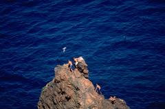 Cliff cannes french riviera cote dazur france Stock Photos