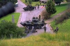 military exercise militar base san francisco - stock photo
