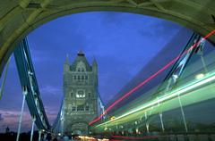 Car harrods twilight stella lights london cars Stock Photos
