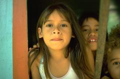 girl children kids eager part photograph island - stock photo