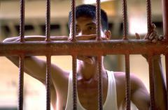people prisoner filipino prison labor palawan - stock photo